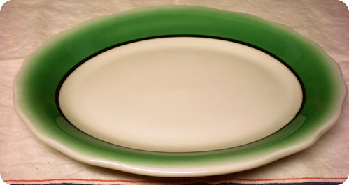 green restaurant ware platter