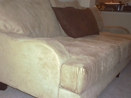 Microfiber Suede Couch - FRONT RIGHT VIEW