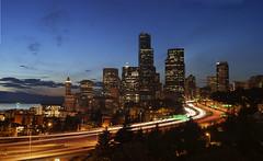 Seattle, Washington (BHagen) Tags: seattle sunset skyscraper washington nikon pugetsound beaconhill nightexposure d80