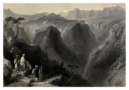 010-Escena en los montes del Libano-Syria, the Holy Land, Asia Minor, etc 1840- Bartlett W. H