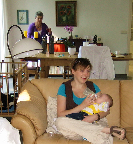 Mama Saskia met Timo