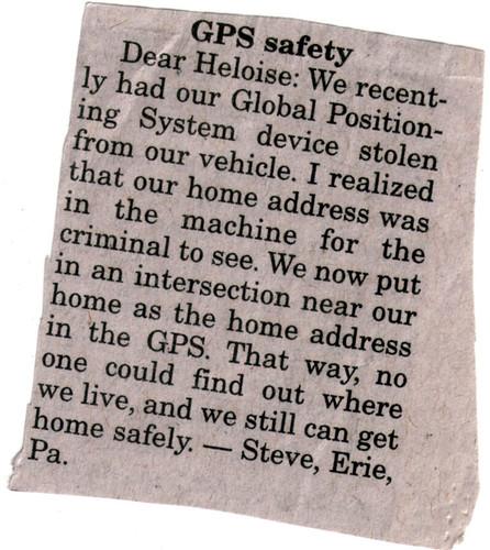 GPS safety
