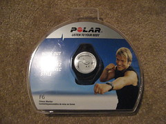 the green girl's new polar f6 heart rate monitor (lil 1/2 pint) Tags: polar heartratemonitor hrm f6