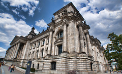 Reichstag in Berlin (Werner Kunz) Tags: world city trip travel windows vacation holiday building berlin architecture photoshop germany lens deutschland town politik nikon europe bricks hauptstadt wideangle treppe reichstag german ddr walls parlament spree bundestag ultrawide hdr bundesrepublik deutsch werner wahl verfassung sitzung kunz photomatix bundeshauptstadt explored colorefex abgeordnete nikond90 topazadjust werkunz1
