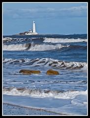 Whitley Bay 2 (Charlie Little) Tags: lighthouse landscapes seascapes shoreline northumberland whitleybay stmaryslighthouse wwwcharlielittlephotographycouk