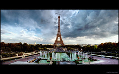 The Eiffel Tower At Dusk (s.j.pettersson) Tags: paris photography artistic fountains soe cloudscape artisticphotography 1920x1200 theeiffeltower letoureiffel bej hdrpanorama macwallpaper widescreendesktop platinumphoto artofphotography highqualityphotography gnneniyisithebestofday flickraward sjpettersson sjpetterssoncom highqualitywidescreenwallpaper highqualitydesktopwallpaper