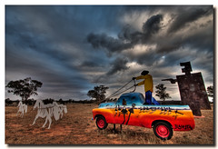 Clean Running Backed by Ned (Sam Ilić) Tags: sky west color station silhouette clouds canon town country australia nsw hdr paddock utes photomatix condobolin 450d burrawang canon1022mm3545 paulblahuta