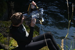 ewa-marine splash bag (smihan13) Tags: camera oregon creek river video underwater salmon panasonic videocamera filmmaking filmmaker wetsuit eaglecreek coho ewamarine hannahsmithwalker splashbag