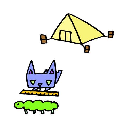 虫を測る、三角うさぎ