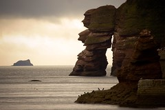 The Legend Of The Parson And Clerk (left-hand) Tags: sea beach rock landscape rocks devon redrocks parson clerk dawlish 5photosaday parsonandclerk naturewatcher ilovemypics spiritofphotography qualitypixels 5halloffame