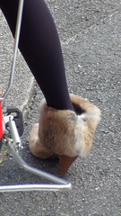 Kyoto woman's fur shoes