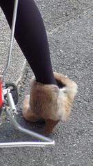 Kyoto woman's fur shoes