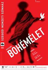 La Boheme/Bohémélet, B1 Poster/Plakát, Plan/Terv (sarkanylatvany) Tags: red bird nude poster design la typo boheme puccini sarkanylatvany bohémélet