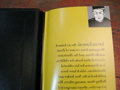 Front of Author Pic and Backwards Text under the jacket for THE OTHER SIDE by Istvan Banyai
