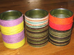 Hot Rod's yarn covered cans