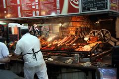 Fresh steaks (Travel Aficionado) Tags: uruguay restaurant market cook bbq meat grill steak barbecue montevideo markt parilla koch fleisch mercadodelpuerto gegrillt parillas marketbuilding steakrestaurant