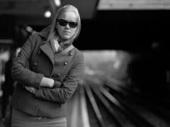 Waiting... (ted.kozak) Tags: portrait train dof bokeh platform line 6x45 ieva tadas 100iso kozak fujineopanacros mamiyarz67proii tedkozak fotofiltroauksas kazakevicius