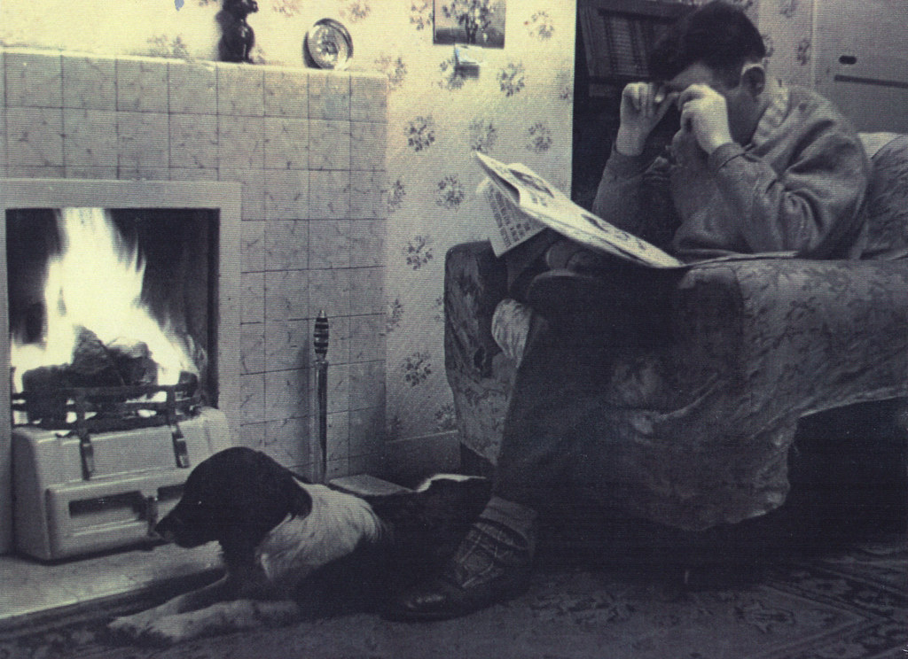 Alex Speirs, home on leave, 1947