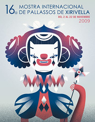 Poster of the Festival of Clowns 09 (malota) Tags: illustration ilustracin xirivella payasos mostradepayasosdexirivella