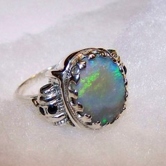 Nonius's ring of prophecy black opal in Sterling silver (leespicedragon) Tags: blue original red black green art silver crystal handmade oneofakind ooak magic jewelry ring sterling spiritual magical opal sapphires solid sapphire prophecy blackopal nonius marvinleebillings