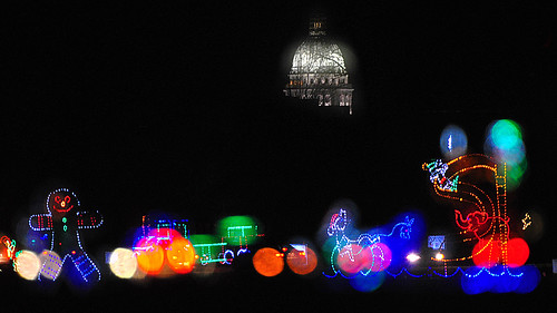 Holiday Fantasy in Lights with State Capitol in Background