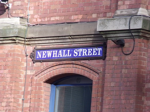 The Birmingham Assay Office - Newhall Street - road sign