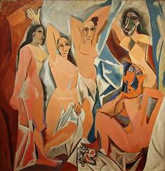 Les Demoiselles d'Avignon by Pablo Picasso (emski_m) Tags: new york city nyc ny art les museum painting paint artist manhattan pablo moma canvas museumofmodernart spanish picasso oil demoiselles davignon