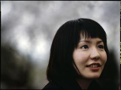 random girl in yoyogi (motionid) Tags: 120 film girl japan mediumformat japanese tokyo 645 slidefilm yoyogipark provia400x contaxt645