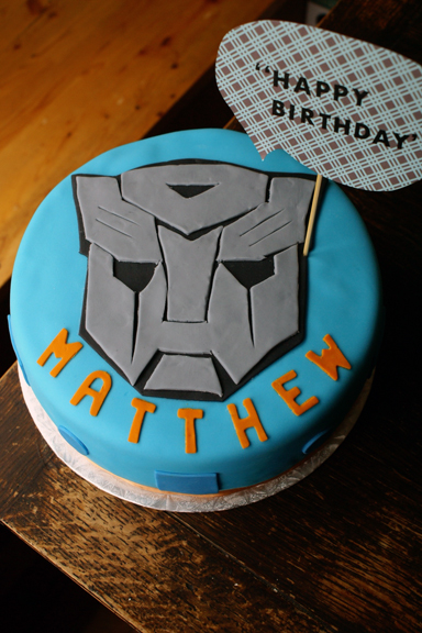transformers cake for matthew!