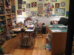 clean sewing room!