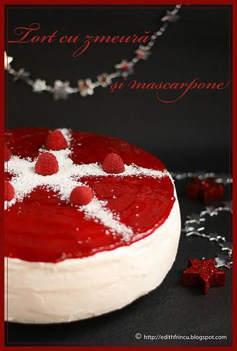 raspberry  and mascarpone cake
