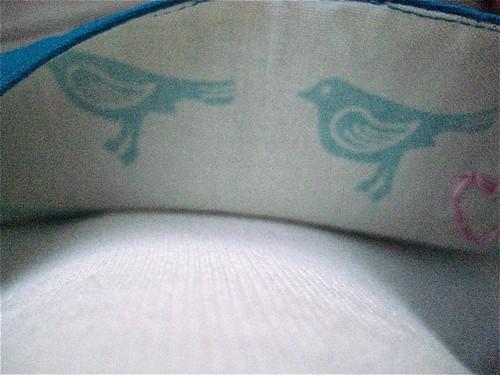 2 birds dress lining
