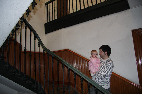Stairs with Cousin Rubén