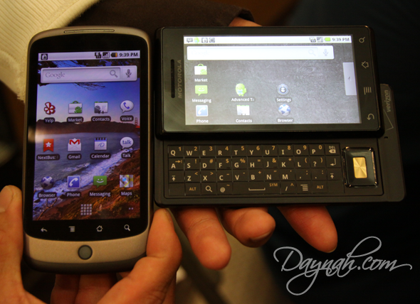 Nexus One vs Droid