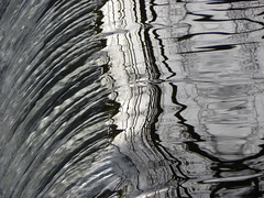 waterfall lines (Zombie37) Tags: city white abstract black nature water lines contrast reflections waterfall shiny waves distorted branches shapes baltimore falls sharp reflected hampden ripply riples roundfalls outerspaces outerspacesbeyondbaker