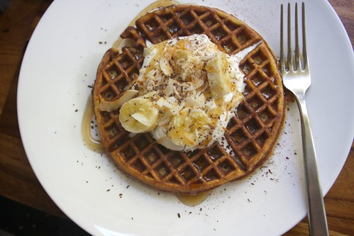 Coconut Waffles with Maple Cream - Shutterbean