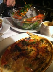 Veggie lasagna at Chez Paul in Paris