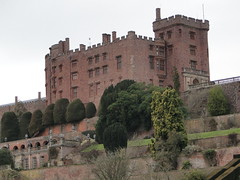 Powis Castle, Welshpool - view from the gardens (gowersaint) Tags: uk trees windows castle history wales ancient catholic power terrace towers prince medieval georgian brooding earl strength walls welsh fortification fortifications nationaltrust clive battles hedges battlements yews stuarts powiscastle welshpool