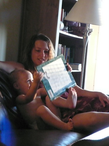Billy reading to Joy