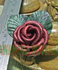 klobot bunga mawar kecil daun terbalik