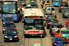 IMG_6353 (wyliepoon) Tags: street city toronto west bus square hall downtown traffic nathan ttc queen transit phillip jam congestion