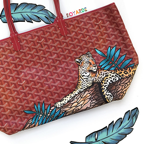 Leopard lounging Goyard red- montage copy