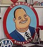 One of the famed Fat Man logos of the Club Cafe. (Photo courtesy of Guy Randall.)