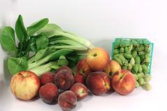 peaches bok choy garbanzo apple