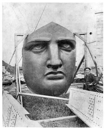 statue of liberty face. The Statue of Liberty#39;s face