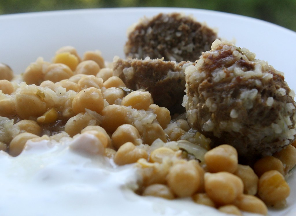 Moroccan meatballs and chickpeas