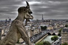 Silent Watcher - Gargoyle of Notre Dame (Roman the Russian) Tags: paris france gargoyle notre dame hdr