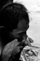 "Harmonica player - Bangkok, city of angels (Sailing ""Footprints: Real to Reel"" (Ronn ashore)) Tags: life street people blackandwhite men film musicians portraits faces blind traditional poor blues buskers blindness sightless agfaapx400 nikonfm2n nikkor50mmf12ais bangkokcityofangels 2009july0029fm2n50mmf12aisagfa400apxbkk"