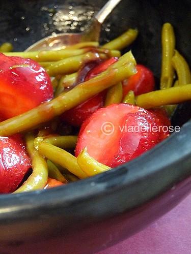 Insalata di fagiolini verdi e fragole