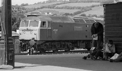 Sir What ! ? (Stapleton Road) Tags: station train platform railway exeter locomotive sulzer trainspotters class47 47537 railwayphotography diesellocos
